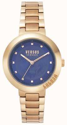 Versus Versace Женский браслет из розового золота | синий циферблат | VSPLJ0819