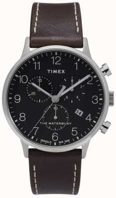 Timex | мужской уотербери классический хроно | черный циферблат | TW2T28200D7PF