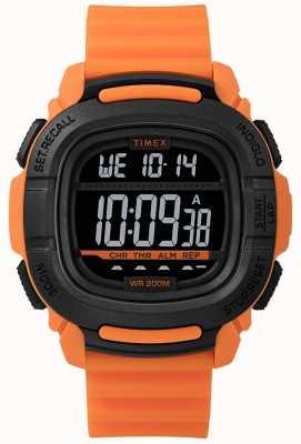 Timex | повысить шок оранжевый и черный цифровой | TW5M26500SU