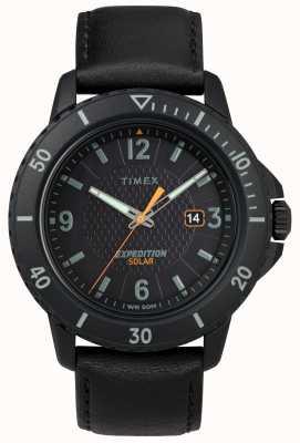 Timex | галлатин солнечная черная кожа | черный циферблат | TW4B14700D7PF