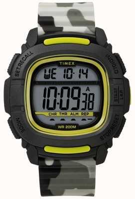 Timex | буст шок черный / салатовый / камуфляж цифровой | TW5M26600SU