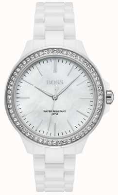 BOSS | женский белый браслет | белый циферблат | 1502454