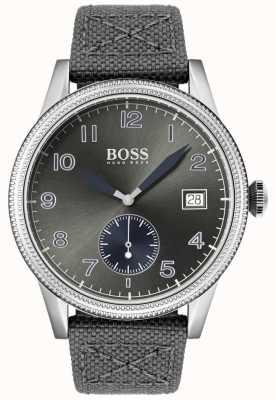BOSS | мужской серый холст ремешок | старые часы | 1513683