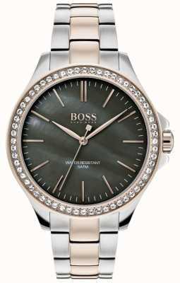 BOSS | женский двухцветный браслет из нержавеющей стали | 1502452