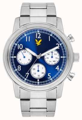Lyle & Scott Мужской браслет из нержавеющей стали, синий циферблат LS-6005-22