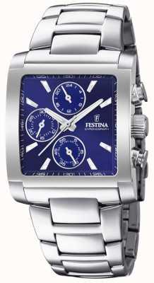 Festina | мужской хронограф из нержавеющей стали | синий циферблат | F20423/2
