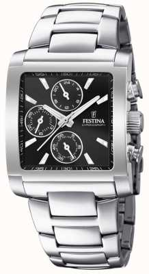 Festina | мужской хронограф из нержавеющей стали | черный циферблат | F20423/3
