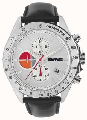 DeLorean Motor Company Watches 1981 серебряная кожа | серебряный циферблат | черная кожа | DMC-7