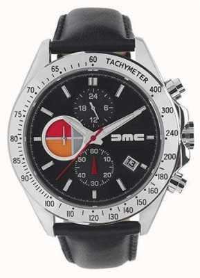 DeLorean Motor Company Watches 1981 черная кожа | черный циферблат | черная кожа | DMC-8