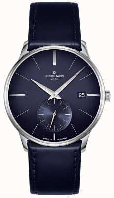 Junghans Meister мега маленькая секунда | синий кожаный ремешок | 058/4901.00