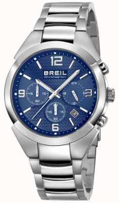 Breil | мужской ремень из нержавеющей стали | синий циферблат | TW1328