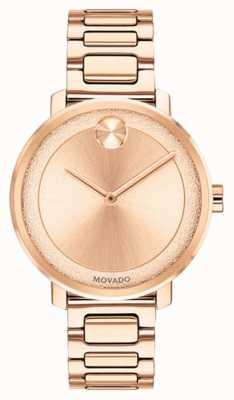 Movado Жирный | часы с покрытием из розового золота | 3600503
