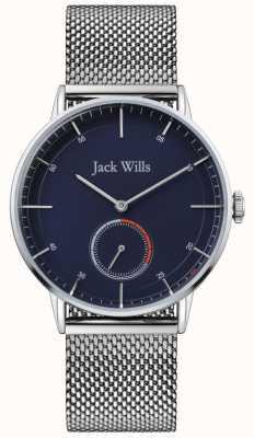 Jack Wills | мужская Батсон II | браслет из стальной сетки | синий циферблат | JW002BLMH
