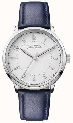 Jack Wills | ноу-хау | синий кожаный ремешок | белый циферблат | JW017WHNV