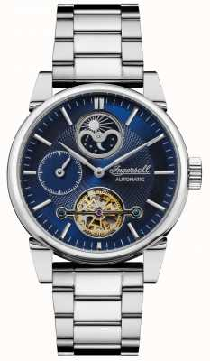 Ingersoll | мужские качели | браслет из нержавеющей стали | синий циферблат | I07501