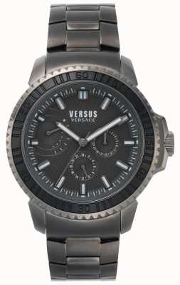 Versus Versace | мужские абердин | черный циферблат | серый браслет из нержавеющей стали VSPLO0819