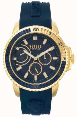 Versus Versace | мужские абердин | синий резиновый ремешок | синий циферблат | VSPLO0219