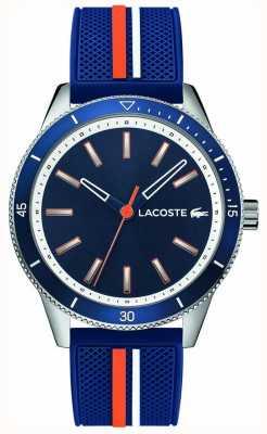 Lacoste | мужская Ки-Уэст | синий силиконовый ремешок | синий циферблат | 2011007