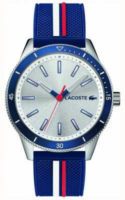 Lacoste | мужская Ки-Уэст | синий силиконовый ремешок | серебряный циферблат | 2011006