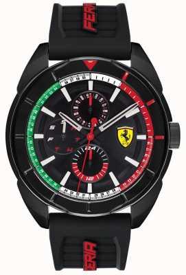 Scuderia Ferrari | мужская форза | черный резиновый ремешок | черный циферблат хронографа | 0830577