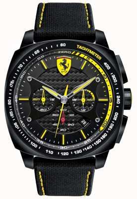 Scuderia Ferrari | мужская аэро эво | черный материал ремешок | черный циферблат | 0830615