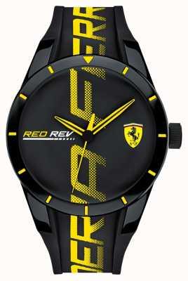 Scuderia Ferrari | мужской редрев | черный резиновый ремешок | черный циферблат | 0830615