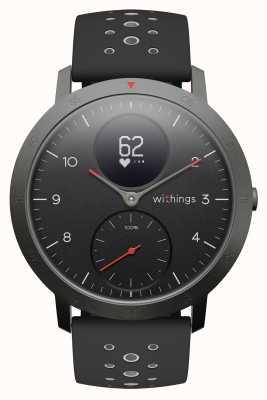 Withings Steel hr sport 40mm черный циферблат черный силиконовый ремешок HWA03B-40BLACK-SPORT-ALL-INTER