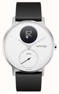 Withings Сталь hr 36мм белый циферблат черный силиконовый ремешок HWA03B-36WHITE-ALL-INTER