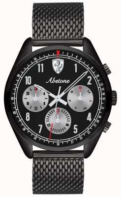 Scuderia Ferrari | мужской абетон | черный сетчатый браслет | черный циферблат | 0830573