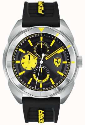 Scuderia Ferrari | мужская форза | черный резиновый ремешок | черный / желтый циферблат | 0830575