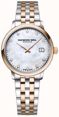 Raymond Weil | женская алмазная токката | двухцветная нержавеющая сталь | 5985-SP5-97081