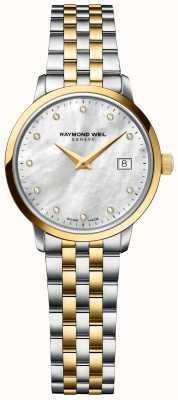 Raymond Weil | женская алмазная токката | двухцветный браслет из нержавеющей стали 5985-STP-97081