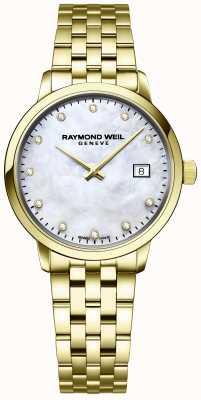 Raymond Weil | женская алмазная токката | золотой браслет из нержавеющей стали | 5985-P-97081