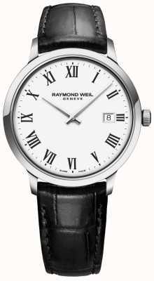 Raymond Weil | мужские токката | черный кожаный ремешок | белый циферблат | 5485-STC-00300