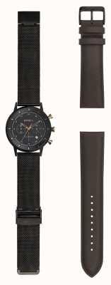 Breil | мужские черные часы из нержавеющей стали | сменный ремешок | TW1808