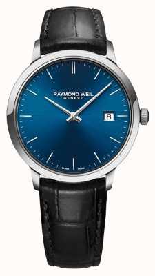 Raymond Weil Мужская токката синий циферблат черный кожаный ремешок 5485-STC-50001
