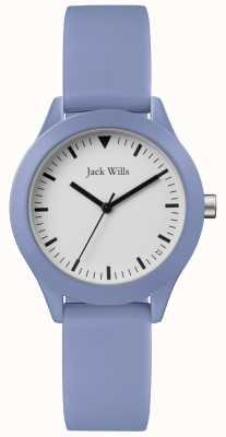 Jack Wills | женский синий резиновый ремешок | белый циферблат | JW008LTBL