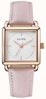 Jack Wills | дамы с розовым кожаным ремешком | белый циферблат | JW016WHPK
