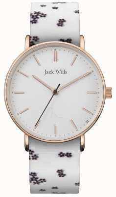 Jack Wills | дамы бутерброд белый кремний | белый циферблат | JW018FLWH