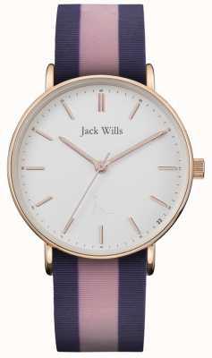 Jack Wills | силиконовый ремешок для женщин с двумя горками | белый циферблат | JW018PKBL