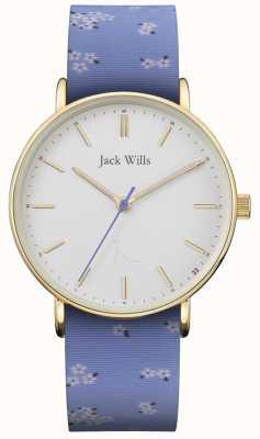 Jack Wills | женский силиконовый ремешок сандхилл синий | белый циферблат | JW018FLBL