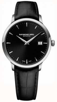 Raymond Weil | мужская токката черная кожа | черный циферблат | 5485-STC-20001