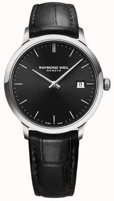 Raymond Weil | мужские токката черная кожа | черный циферблат | 5485-STC-20001