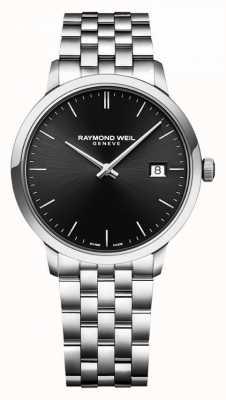 Raymond Weil | мужской браслет из нержавеющей стали токката | черный циферблат | 5485-ST-20001