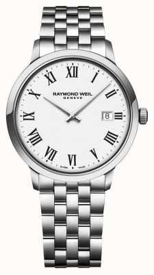 Raymond Weil | мужской браслет из нержавеющей стали токката | белый циферблат | 5485-ST-00300