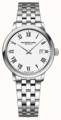 Raymond Weil | женский браслет из нержавеющей стали токката | белый циферблат | 5985-ST-00300