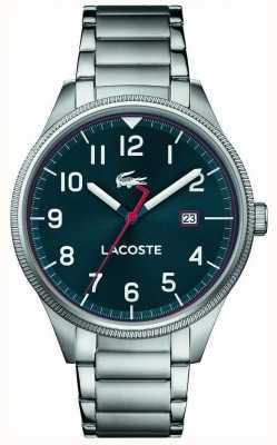 Lacoste | мужской континентальный | браслет из нержавеющей стали | синий циферблат | 2011022