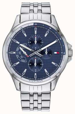 Tommy Hilfiger | мужской браслет из нержавеющей стали | синий циферблат | хронограф | 1791612