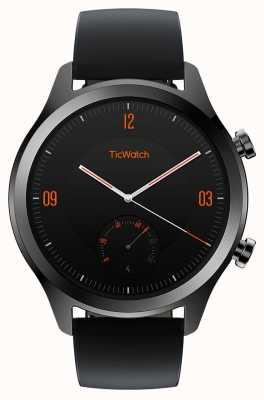 TicWatch С2 | умные часы из оникса | черный кожаный ремешок 130688-WG12036-ONYX
