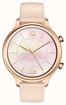 TicWatch С2 | умные часы из розового золота | кожаный ремешок 131584-WG12056-RG